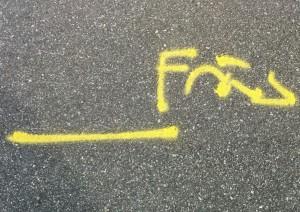 Asfalt markering 2