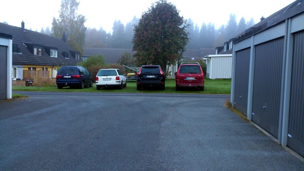 Parkering på gräsmatta bild 1