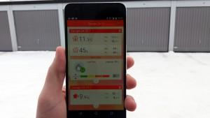 Med en speciell app till en smartphone kan temperaturen i varmgaragen nu avläsas trådlöst.